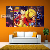 One Piece Canvas Painting, Luffy D Monkey