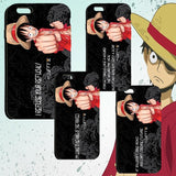 One Piece Phone Case for iPhone & Galaxy | Luffy Quoted Phone Cases