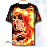 One Piece Full Color Printed T-Shirts in 8 Designs