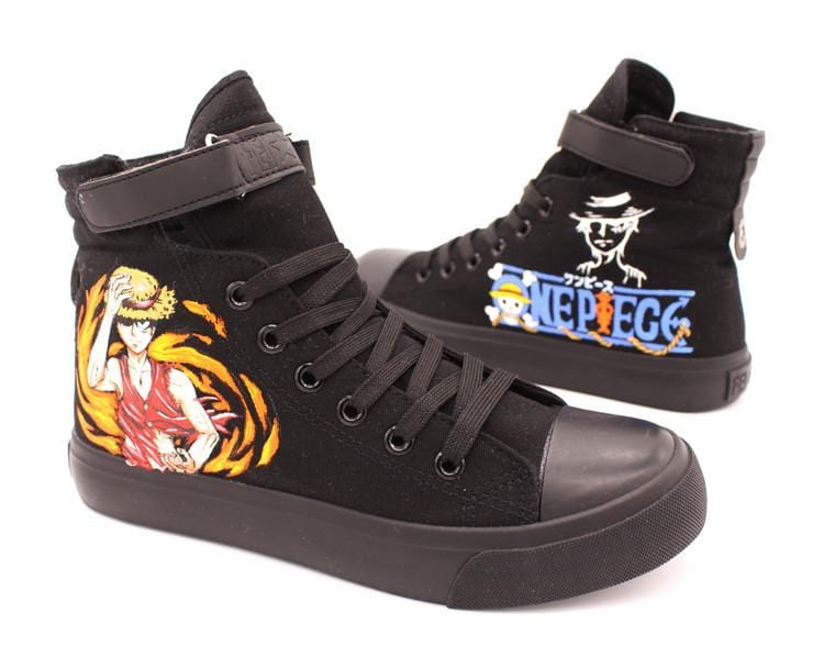 One Piece High Top HigCanvas Shoes - Anime Print House
