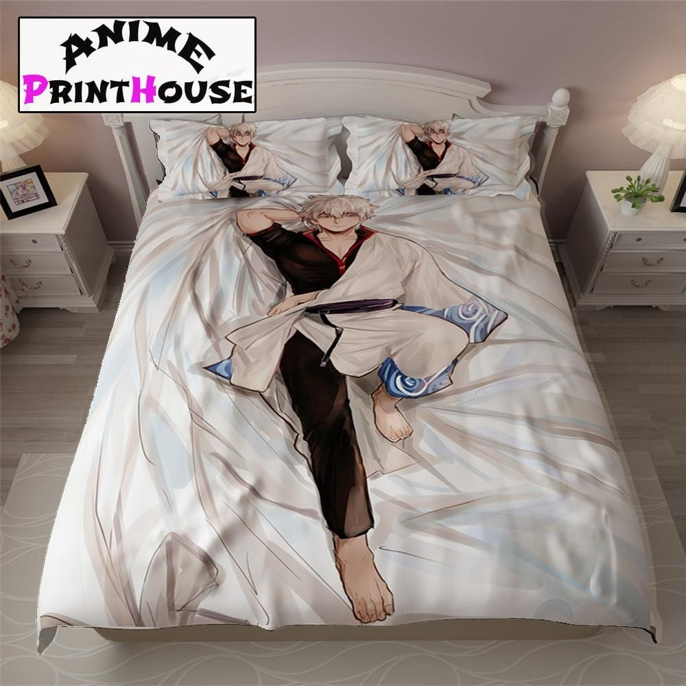 . Gintama Bed Sheets  Blanket  Covers   Full Bed Set   Anime Print House