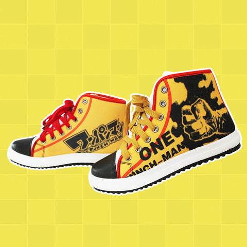 One Punch Man Canvas Shoes - Anime Print House