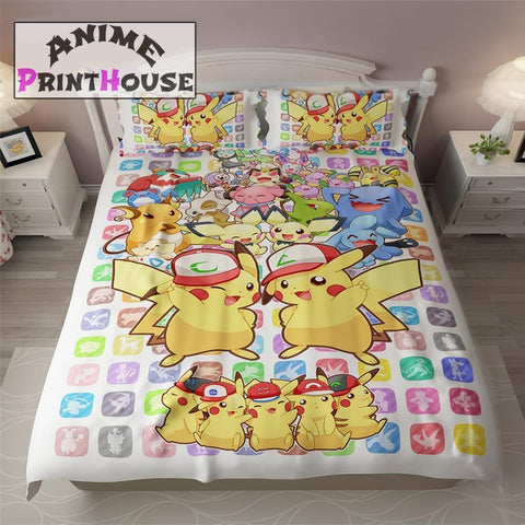 Pokemon Bed Set, Comforter, Quilt Cover & Pillow | 30 Designs