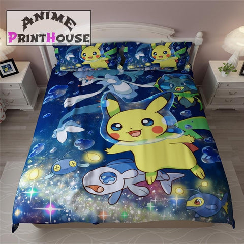 Pokemon Bedding Set, Blanket & Duvet Cover | 30 Designs