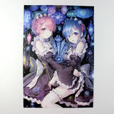 Re Zero Posters , Conditional Free Gift | 8 Pieces!