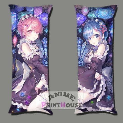 Rem & Ram Body Pillow from Anime Re Zero over 50 Designs