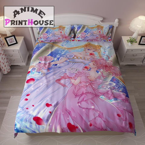 Sailor Moon Bedding Set, Duvet Cover & Blanket