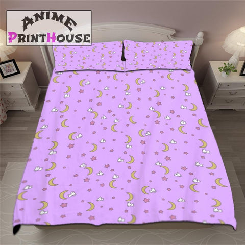 Sailor Moon Bunny Sheets, Full Bed Set & Blanket