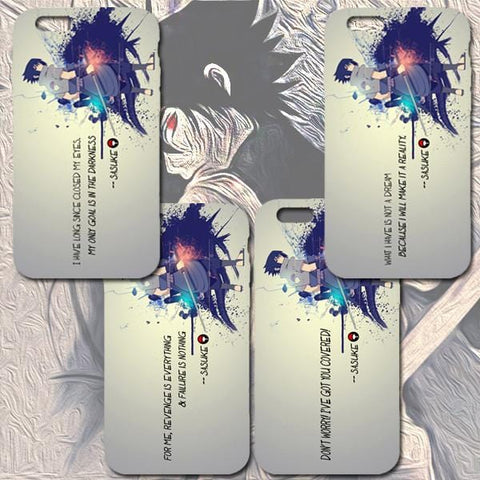 Sasuke Uchiha Quoted iPhone & Samsung Phone Cases | Naruto Series