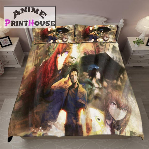 Steins Gate Bedding, Bed Sheets, Blanket & Covers