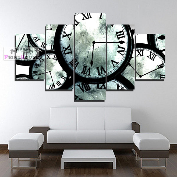 Steins Gate Canvas Painting, The Clocks | 1 to 5 Pieces