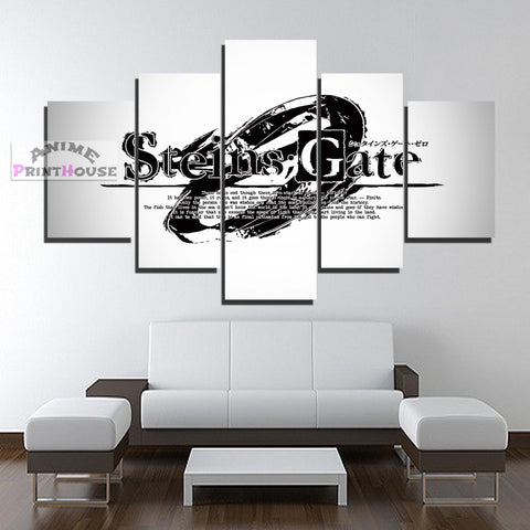Steins Gate Canvas Print , Logo Design | 1 to 5 Pieces