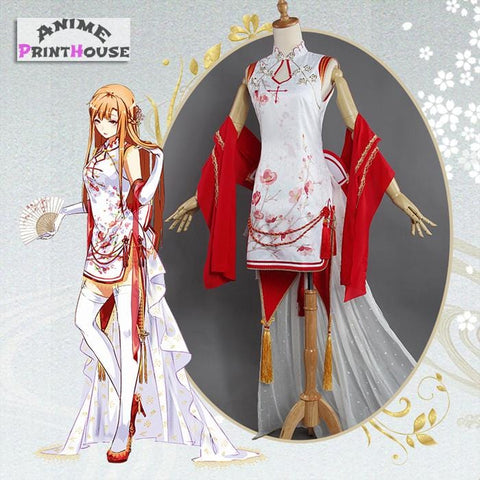 Sword Art Online Asuna Cosplay Costume Set