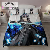 Sword Art Online Kirito Themed Blanket, Bed Sheets & Covers