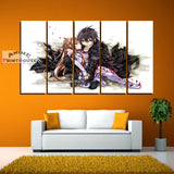 Sword Art Online Canvas Print, Kirito Holding Asuna | 1 to 5 Pieces