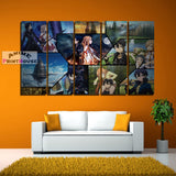 Sword Art Online Canvas Set, Collage Mode 1 to 7 Pieces