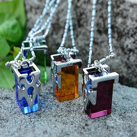 Sword Art Online Crystal Necklace with Chain & Beautiful Box