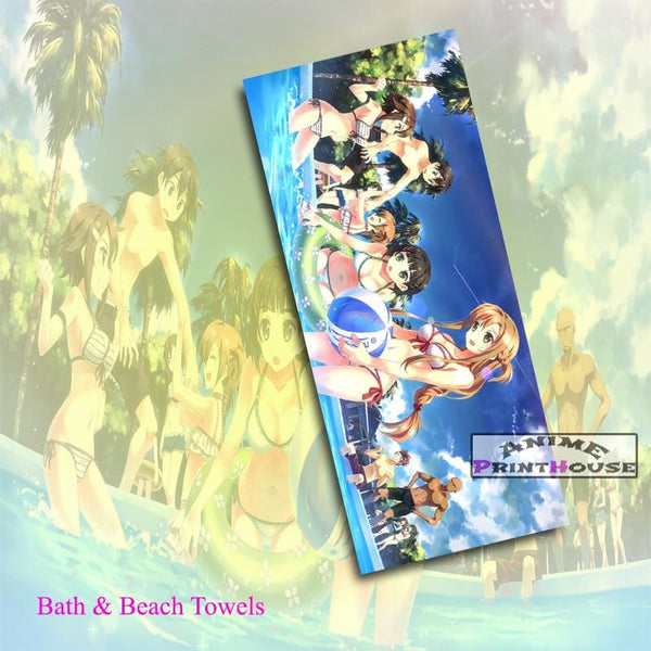 Sword Art Online Towels Pool Party Design Suitable For