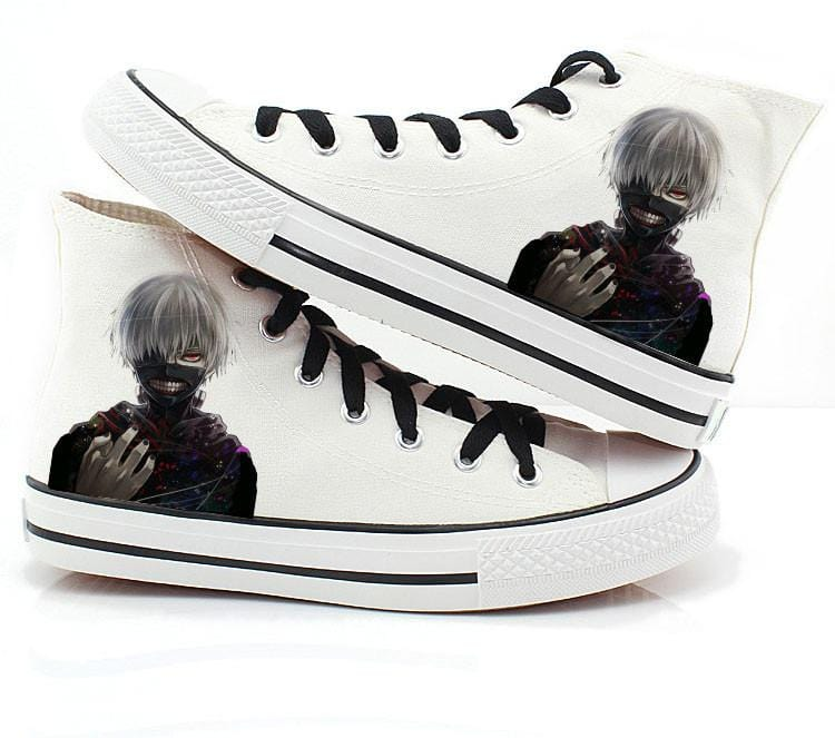 Unisex Shoes Custom Shoes Kaneki Canvas Shoes Personalized Shoes Tokyo Ghoul Slip On Poster Shoes Kid/'s Shoes