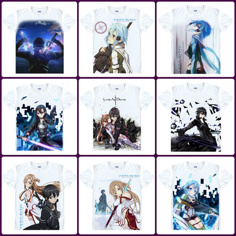 Anime T-Shirt - Sword Art Online - 10 Designs - Anime Print House