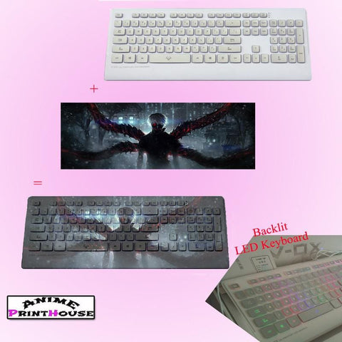 Tokyo Ghoul Backlit Illuminated Keyboard with FREE Protector | 3 Designs - V1