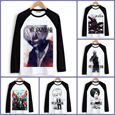 Tokyo Ghoul Long Sleeve T-Shirts| Men & Women - 6 Designs | B - Anime Print House