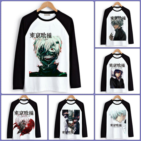 Tokyo Ghoul Long Sleeve T-Shirts| Men & Women - 6 Designs - Anime Print House