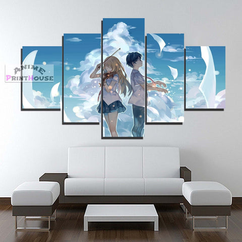 Your Lie in April 5 Piece Canvas Print