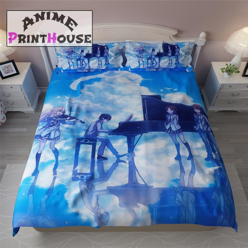 Your Lie in April Bed Set, Bed Sheets & Pillow