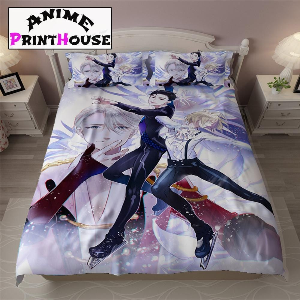 yuri on ice bed sheets blanket covers full bed set anime yuri on ice bed sheets blanket covers full bed set anime print house