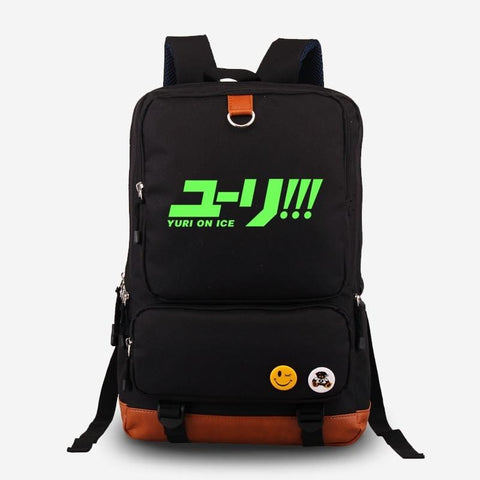High quality Canvas Yuri on Ice Backpack with Glowing Feature