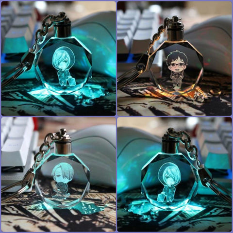 Yuri on Ice LED Key Chains with Gift Box