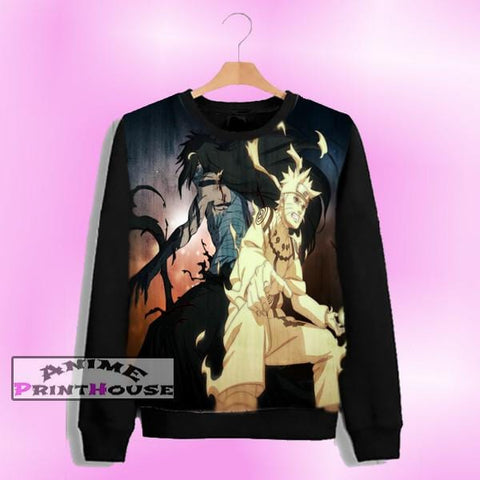 Ichigo Kurosaki vs Naruto Uzumaki Sweater | Full Color One Side Print - P5