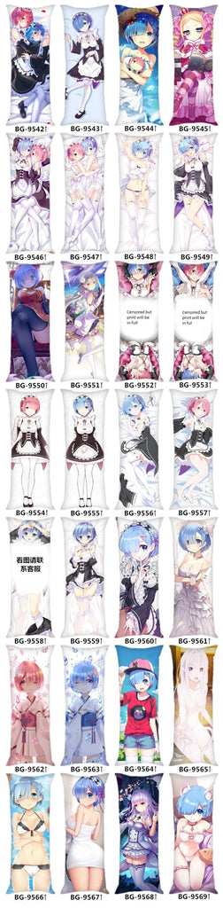 Re Zero Body Pillow Rem & Ram on Bed
