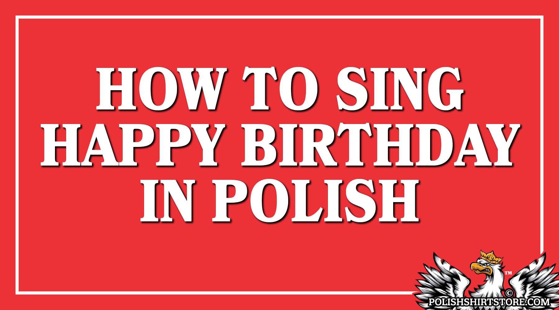 how to sing happy birthday in polish - sto lat words