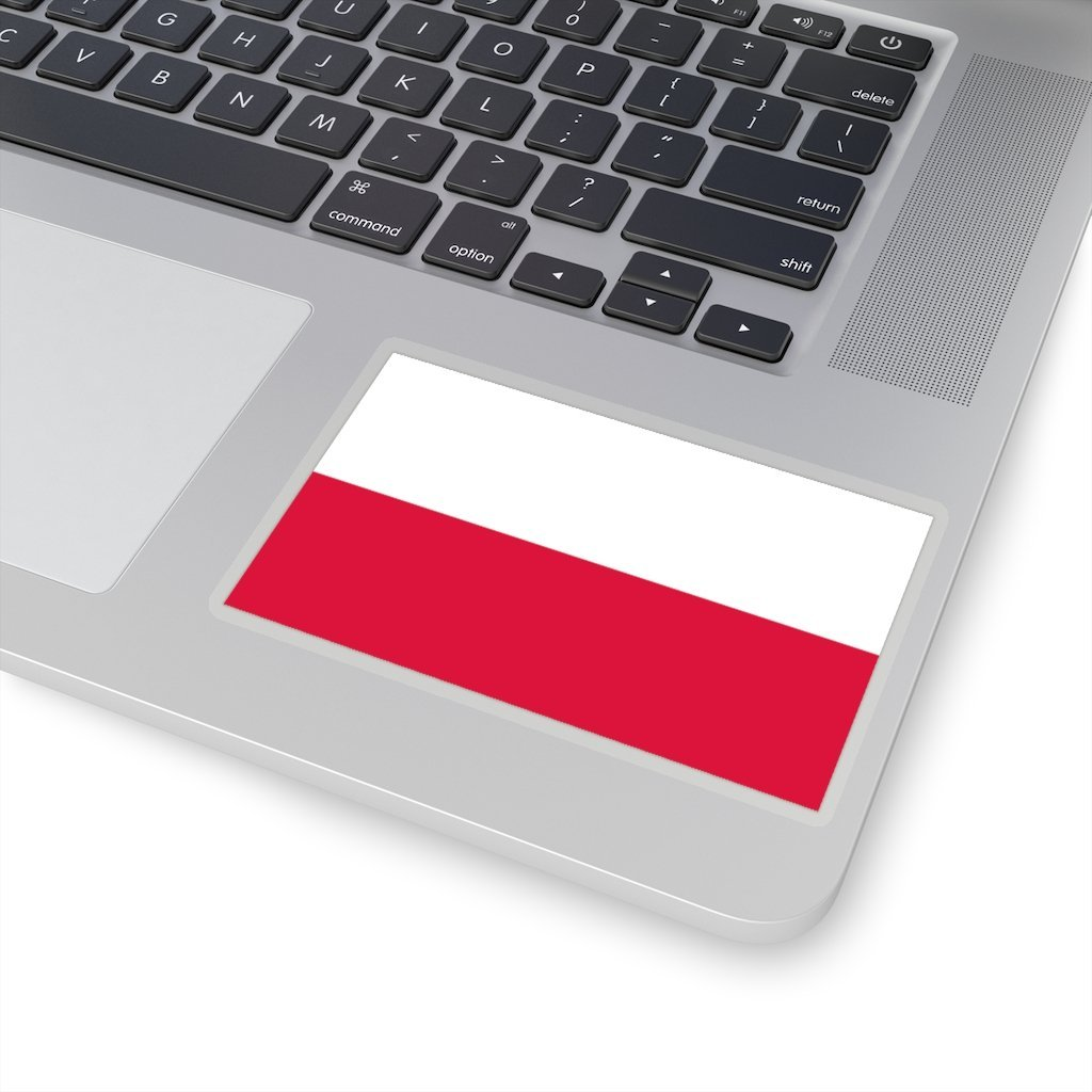 "Polish Flag Sticker - 4x4"" / Transparent - Polish Shirt Store"