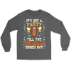 It's Not A Party Till The Kielbasa Comes Out Shirt - Gildan Long Sleeve Tee / Charcoal / S - Polish Shirt Store