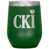 Polish Surname Ending in CKI Wine Tumbler - Green - Polish Shirt Store
