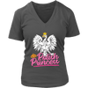 Polish Princess - District Womens V-Neck / Charcoal / S - Polish Shirt Store