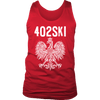 402SKI Polish Pride - District Mens Tank / Red / S - Polish Shirt Store