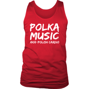 Polka Music Polish Cardio Mens - District Mens Tank / Red / S - Polish Shirt Store