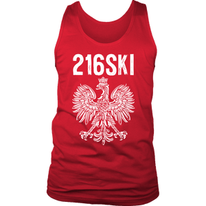Cleveland Ohio - Area Code 216 - 216SKI - District Mens Tank / Red / S - Polish Shirt Store