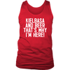 Kielbasa And Beer That's Why I'm Here - District Mens Tank / Red / S - Polish Shirt Store