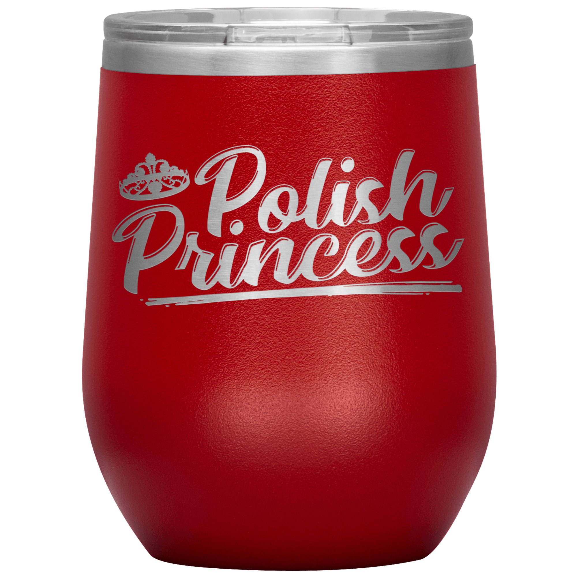 Polish Princess Wine Tumbler Gift - Red - Polish Shirt Store