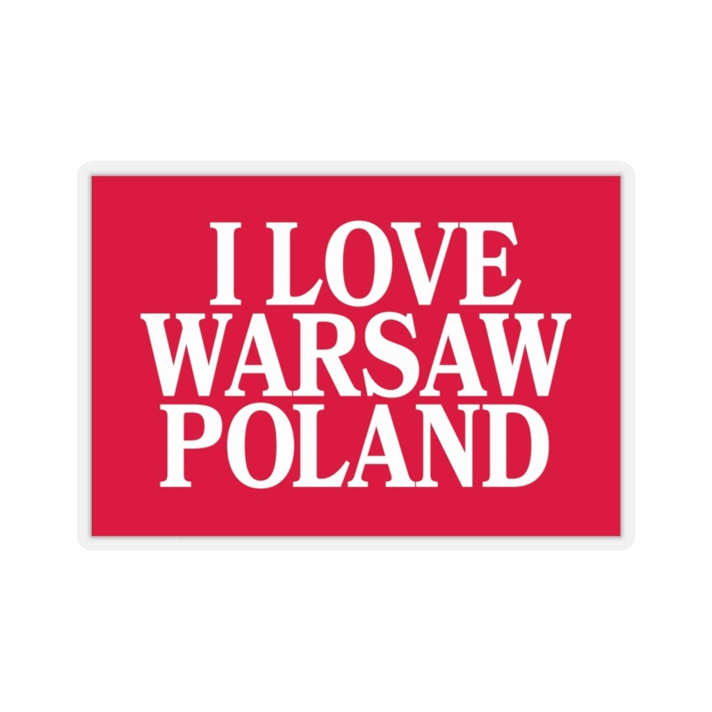 "I Love Warsaw Poland Die-Cut Sticker - 4x4"" / Transparent - Polish Shirt Store"