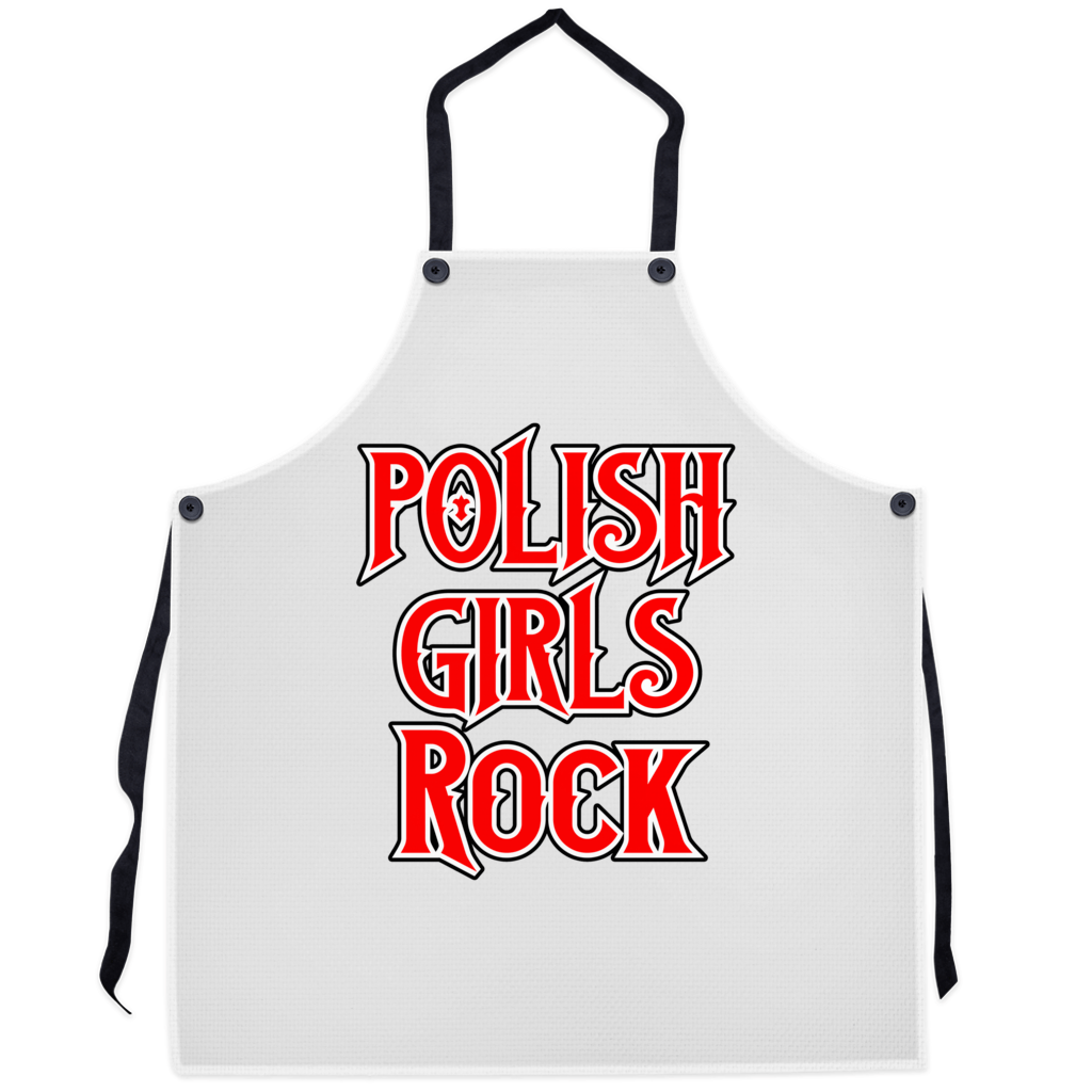 Polish Girls Rock Premium Kitchen Apron - 29.5x32 inch - Polish Shirt Store