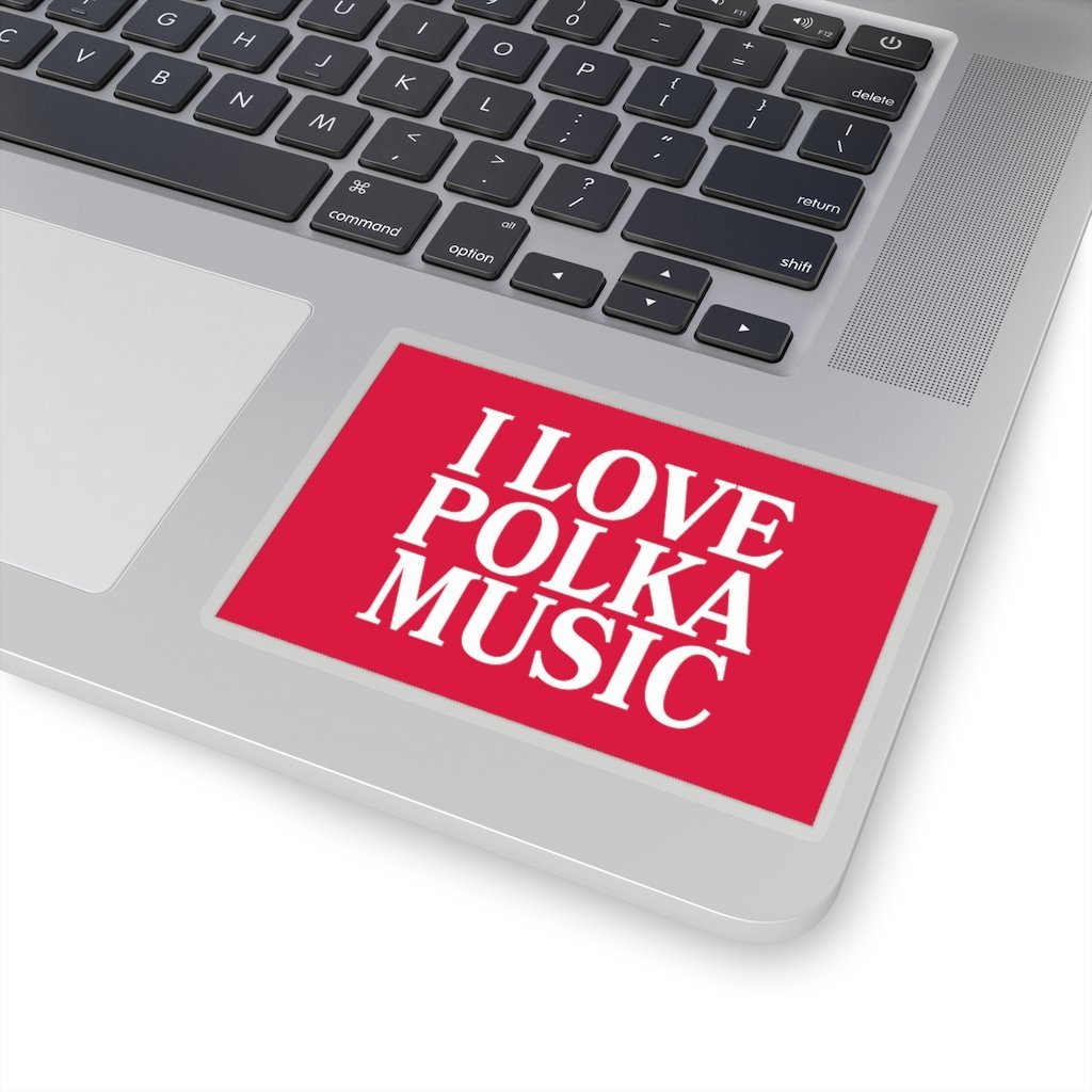 "I Love Polka Music Die-Cut Sticker - 4x4"" / Transparent - Polish Shirt Store"