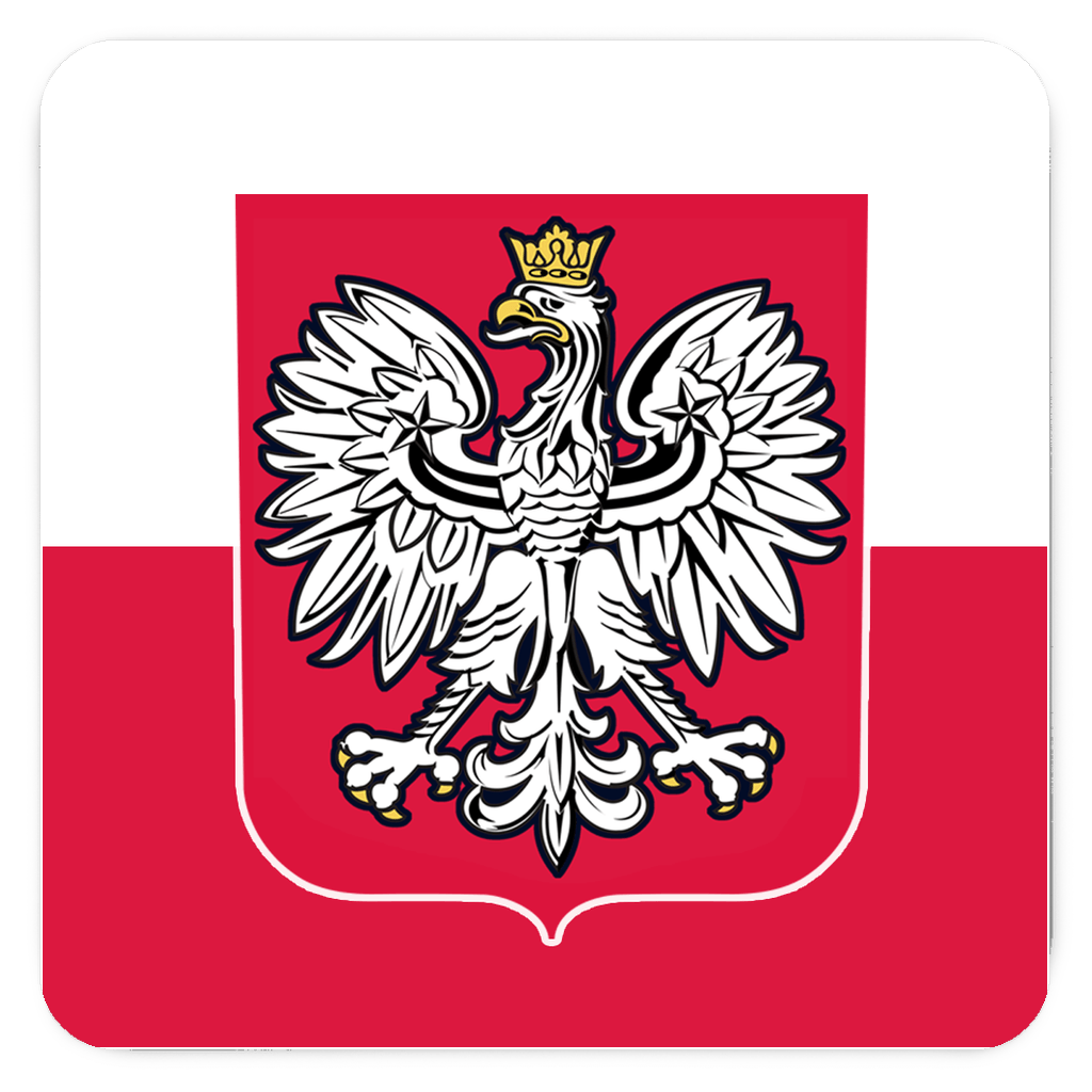 Polish Coat Of Arms Fridge Magnets - 3x3 inch - Polish Shirt Store