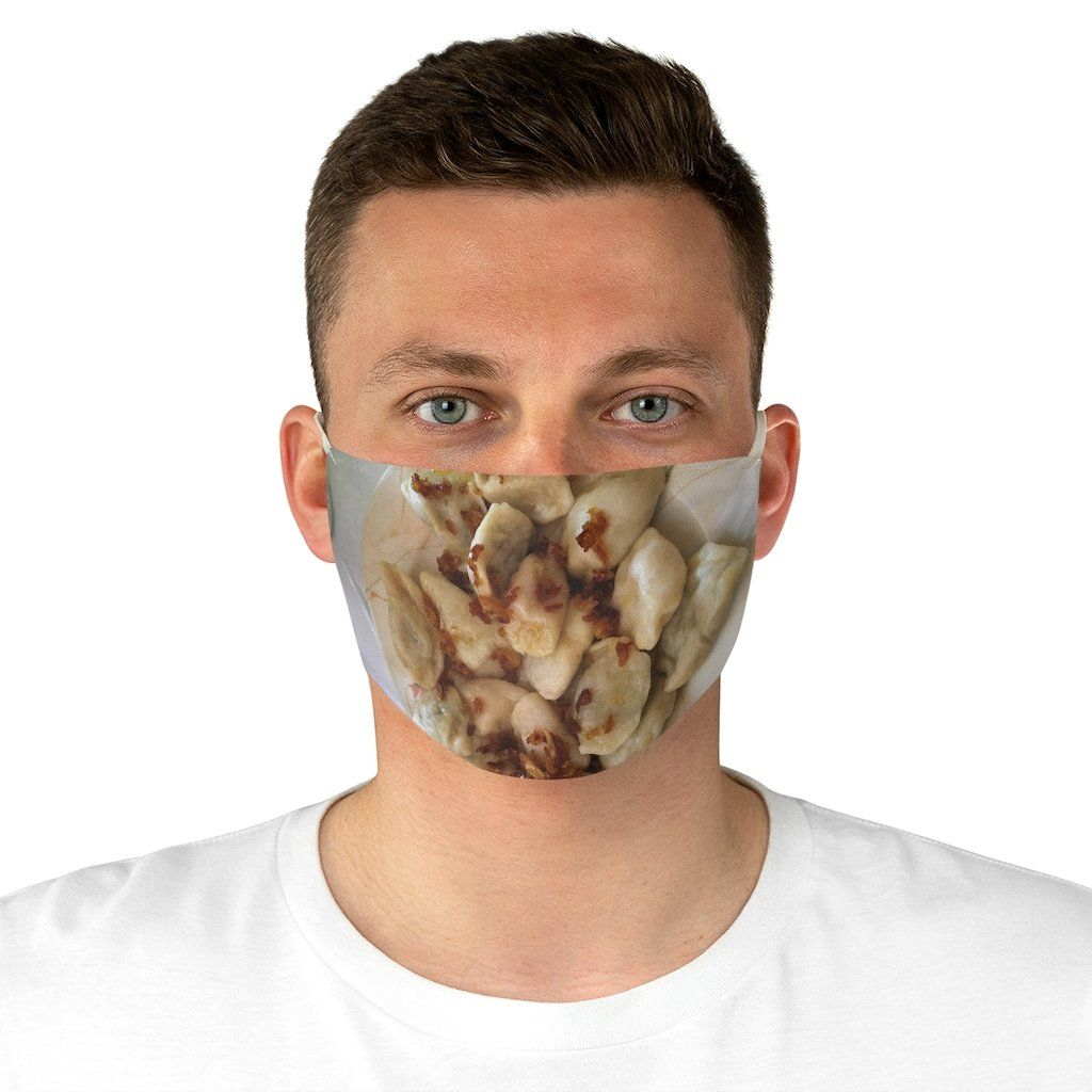 Plate of Pierogi Fabric Face Mask - One size - Polish Shirt Store