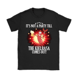 It's Not A Party Till The Kielbasa Comes Out Shirt - Gildan Womens T-Shirt / Black / S - Polish Shirt Store